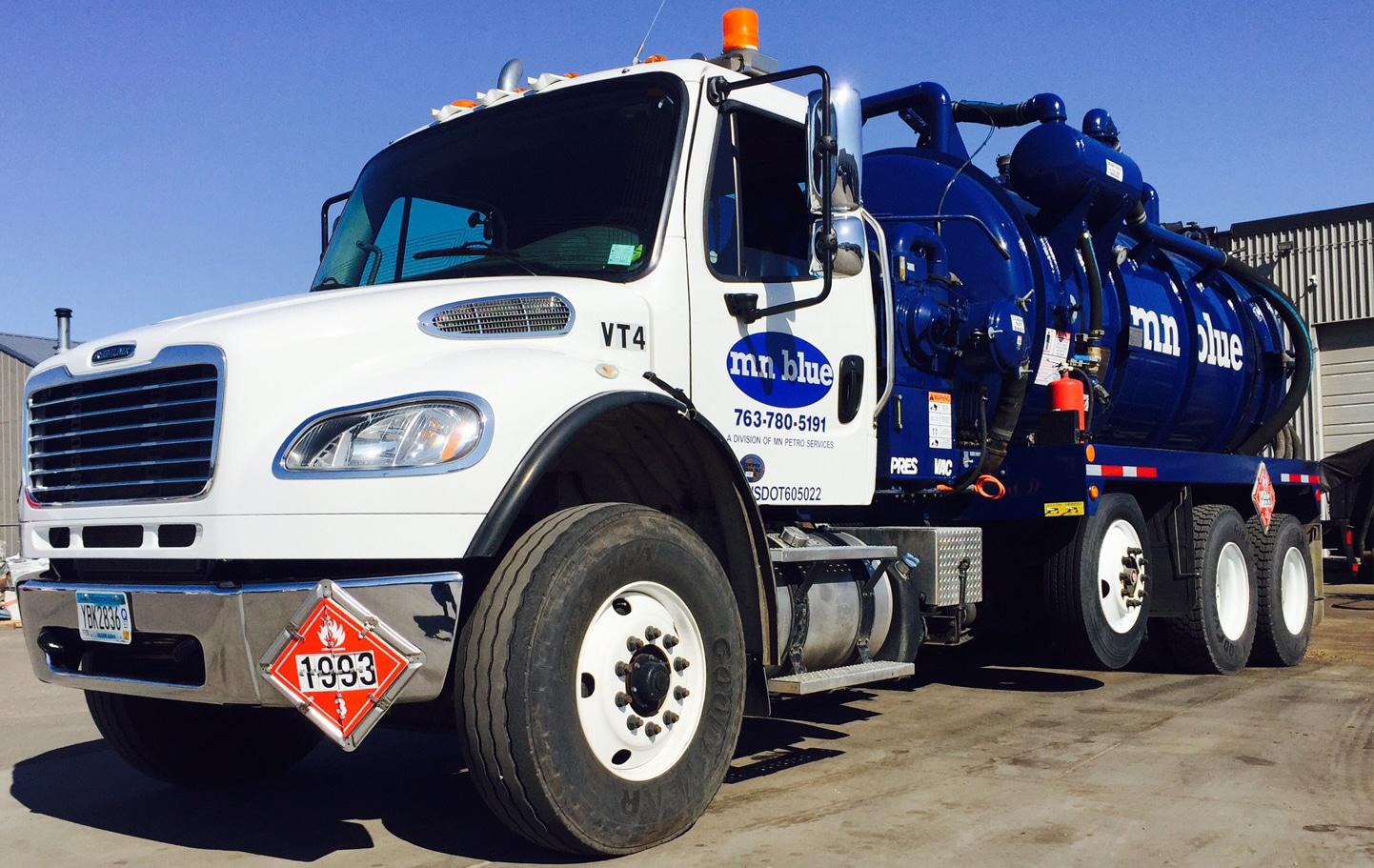 MN Blue Vac Truck